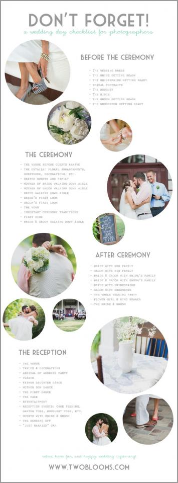 wedding photography poses checklist