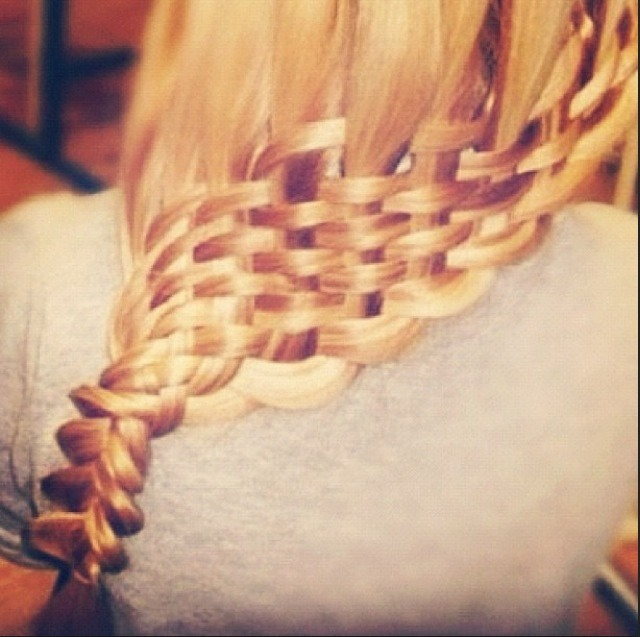 How To Make A Basket Weave Hairstyle : How to make a basket weave hairstyle trusper