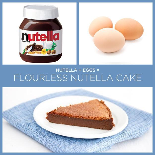Nutella + Eggs = Flourless Nutella Cake