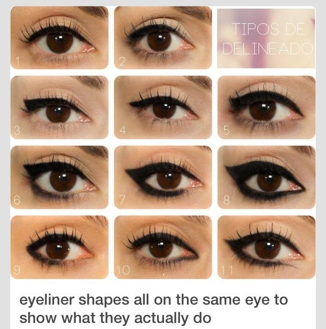 Eyeliner Shapes💞💞👌😉💁😍