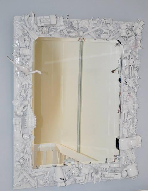 Diy frame for kids room mirror trusper for Kids room mirror
