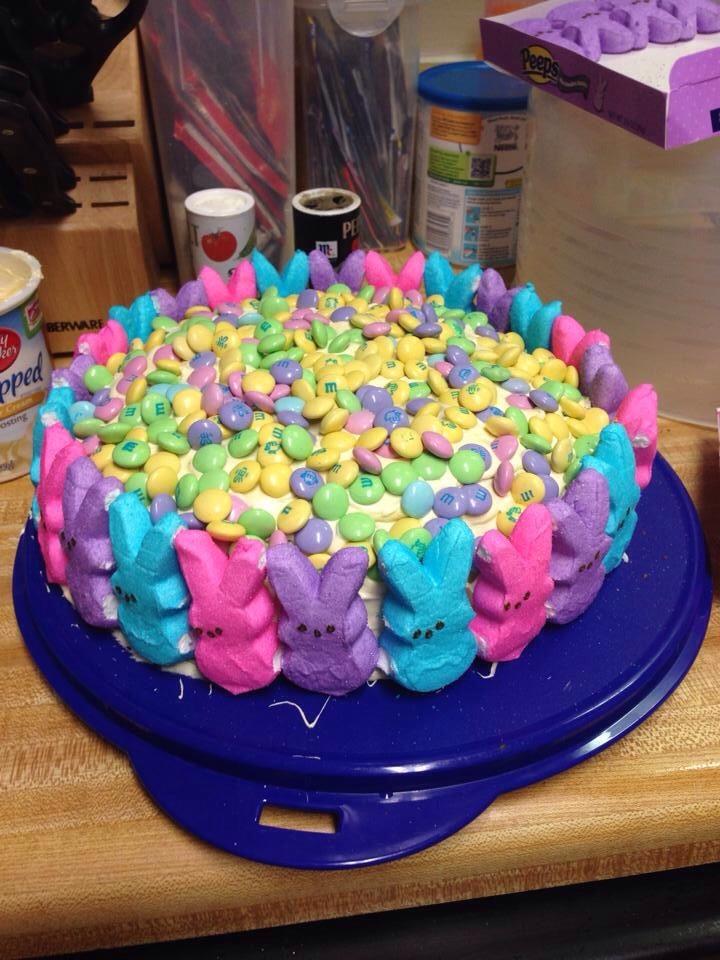 Easy easter cake decoration trusper for M m cake decoration ideas