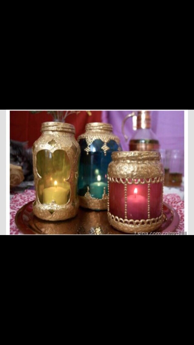 How To Turn Mason Jars Into Moroccan Lamps😍💕