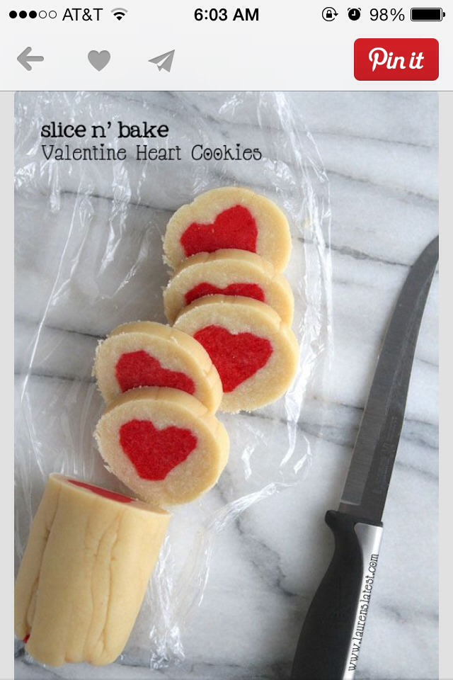 Homemade Slice N' Bake Valentines Day Cookies | Trusper