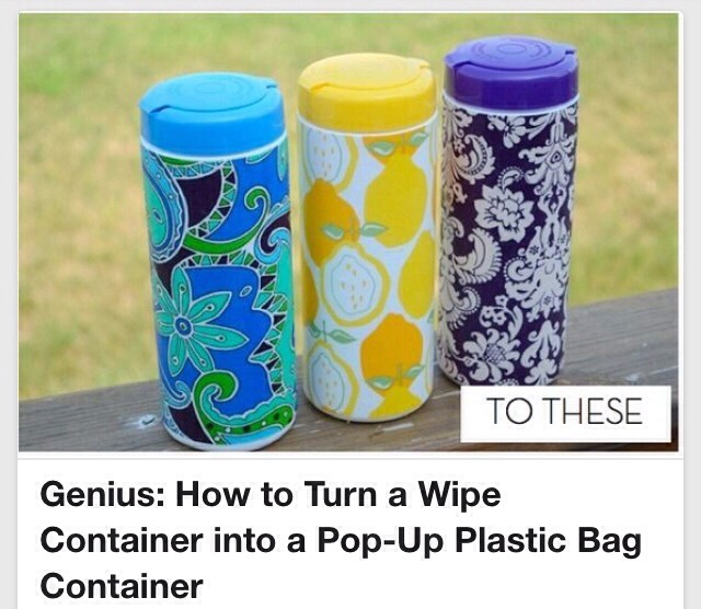 Genius: How To Turn A Wipe Container Into A Pop-Up Plastic Bag Container!