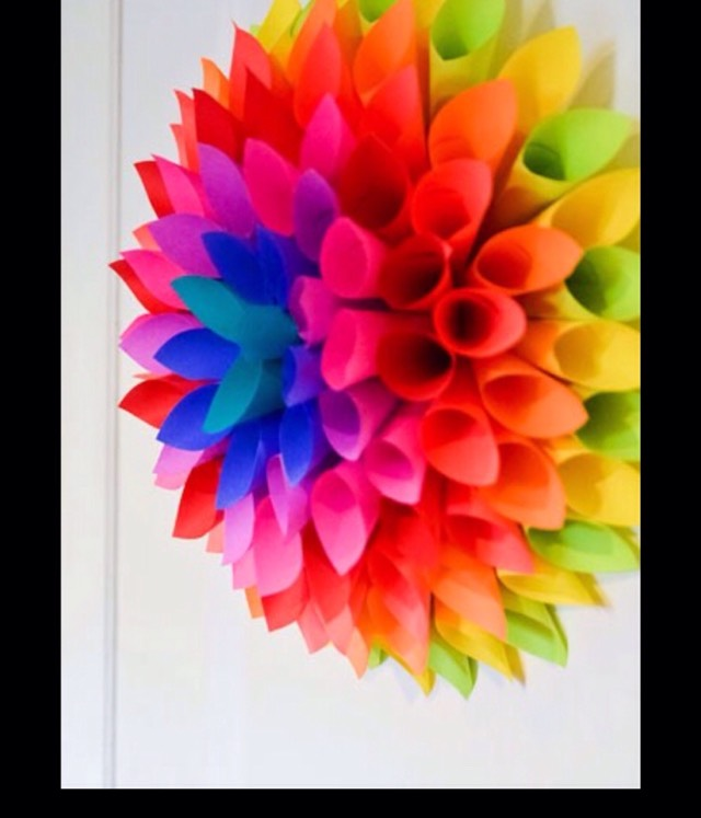 How To Make A Paper Wreath #tipit