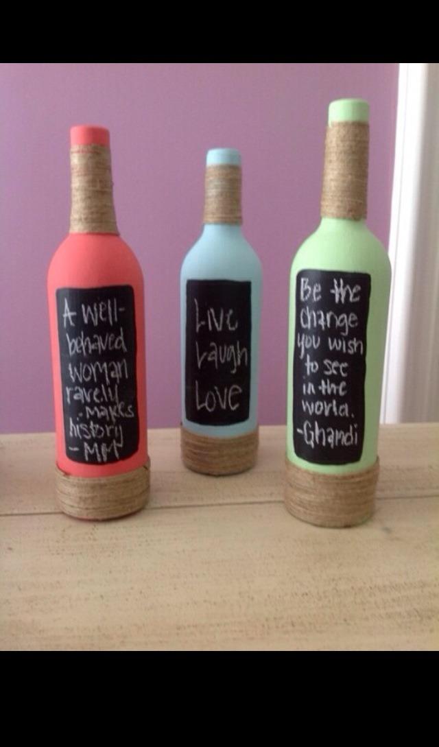 Some wine and twine cute wine bottle project trusper for Cute wine bottles