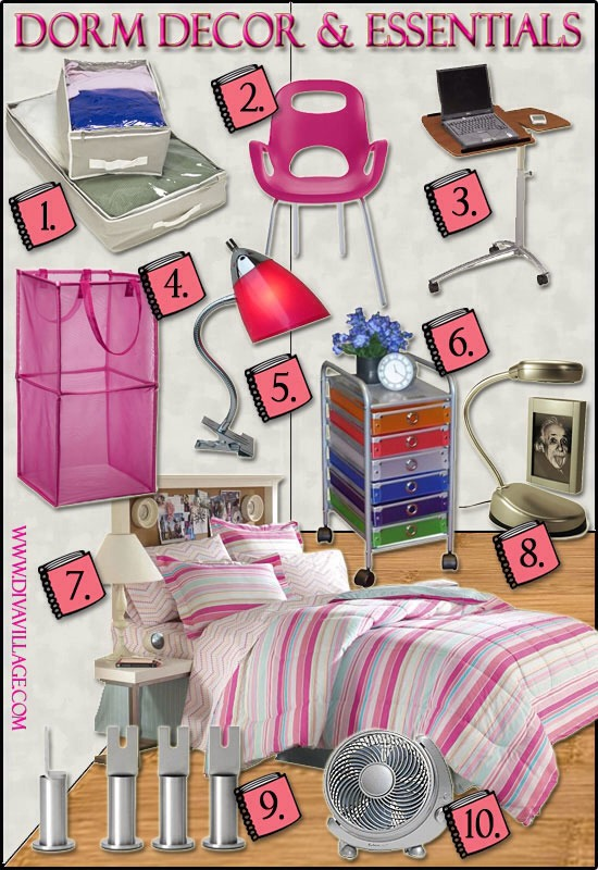 Dorm room essentials don 39 t forget to add these items to for Room decor stuff