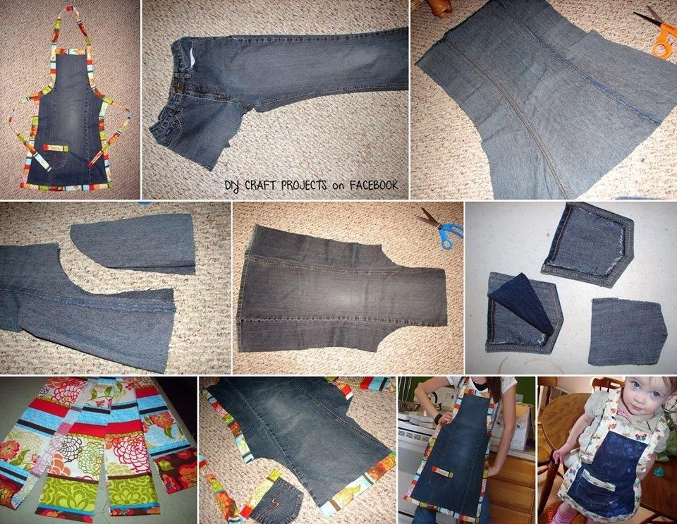 Детские вещи из старых джинсов своими руками