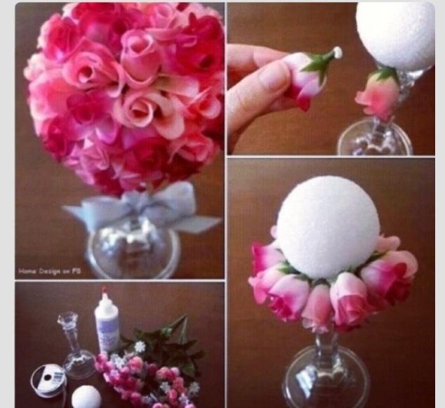 Diy rose centerpiece trusper