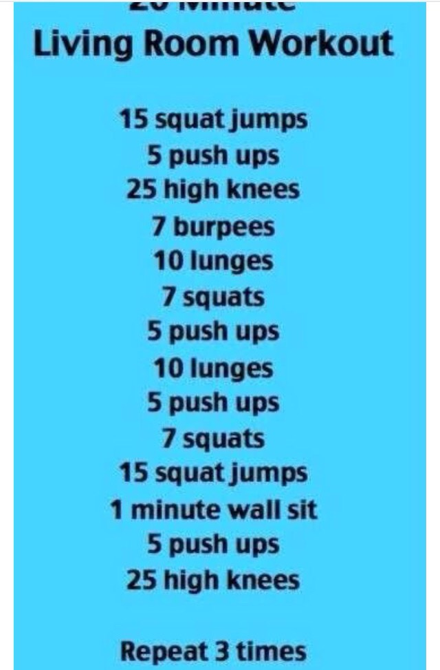 One room cardio trusper for Living room workout