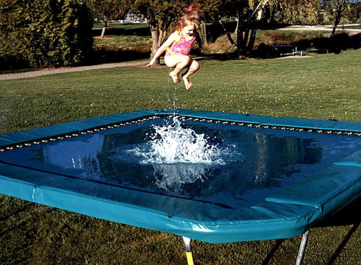 how to put a trampoline on uneven ground