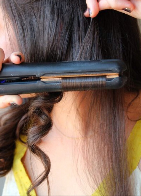 How To Curl Hair With A Flat Iron Repining This Because