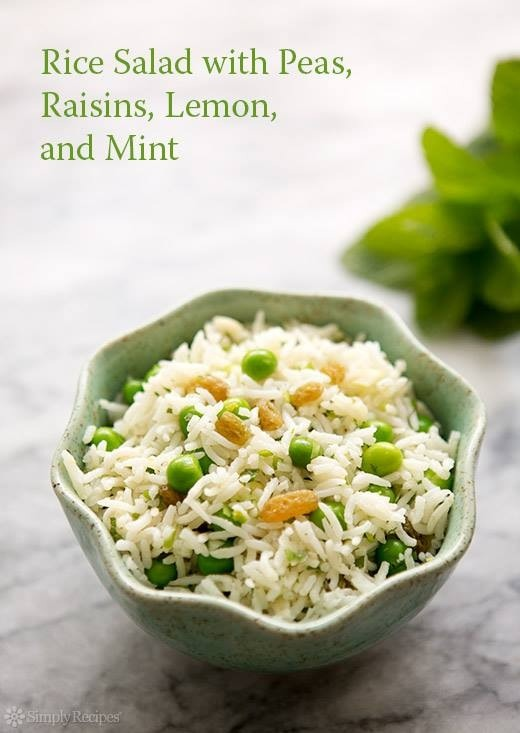 ... SALADS? RICE SALAD WITH PEAS LEMON AND MINT RECIPE (DELISH!) | Trusper