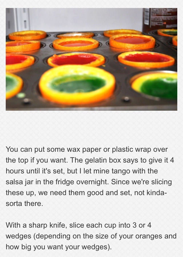 "Rainbow Gelatin Orange Wedges""👍 