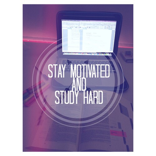 how to get motivated to study hard