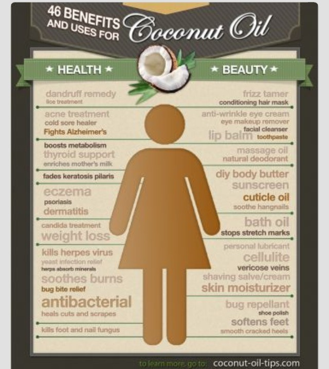 🎀💋46 Uses For Coconut Oil💋🎀