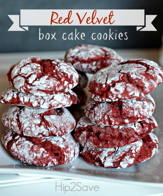 Red Velvet Box Cake Cookies Recipe!!