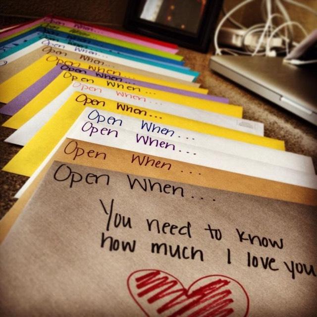 Open When.....😩❤️ Card Ideas