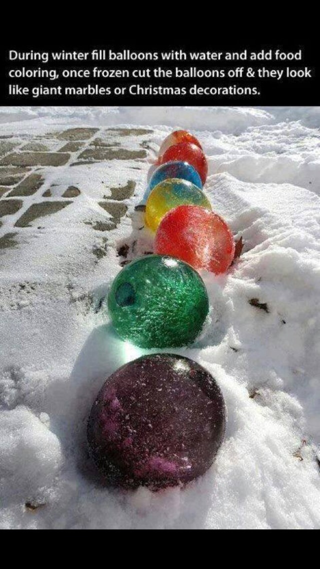 """Giant Ice """"marbles"""""""