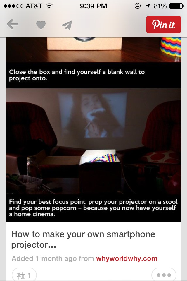 how to make your phone a projector