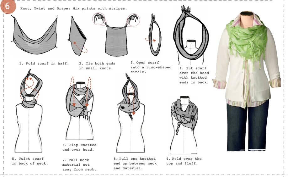 Different Ways To Wear And Tie A Scarf??