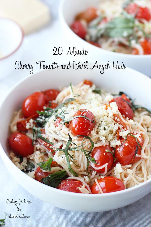 20 Minute Cherry Tomato And Basil Angel Hair Pasta Trusper