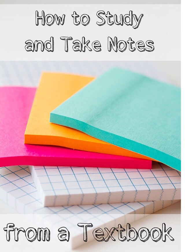 How To Study And Take Notes From A Text Book !📝