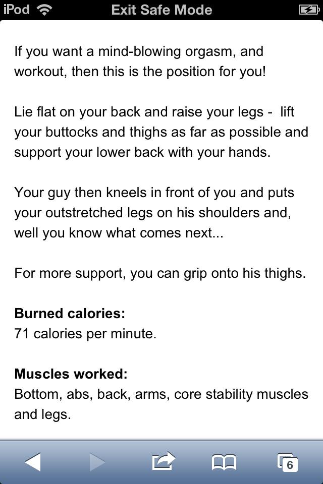 What sex position burns more calories
