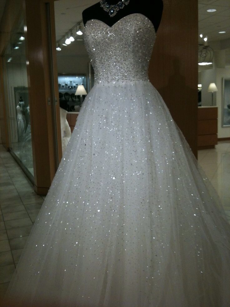 Blinged out wedding dresses trusper for White sparkly wedding dress