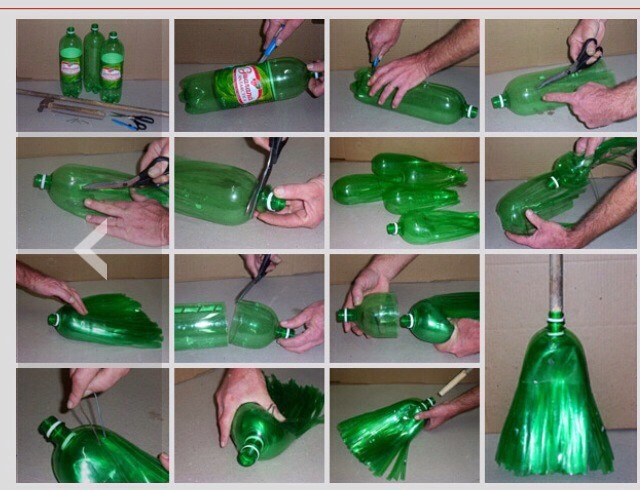 Turn A Recycled Bottle Into A Quick Nifty Broom