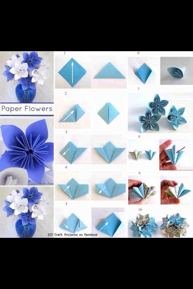 NEW SIMPLE ORIGAMI FLOWER FOR BEGINNERS Origami