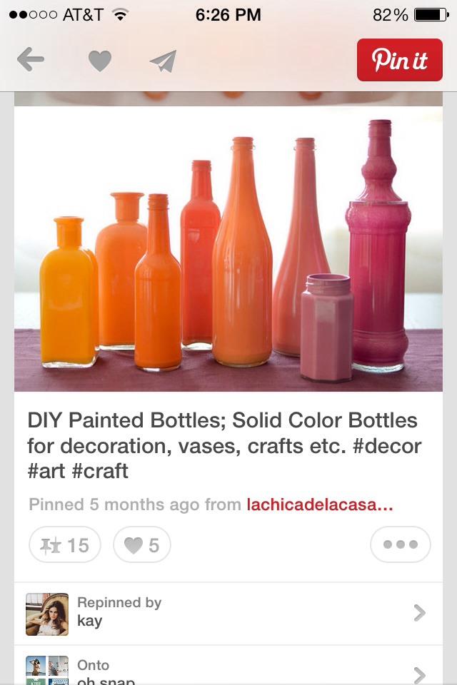 Painted bottles trusper for Paint bottles with tips