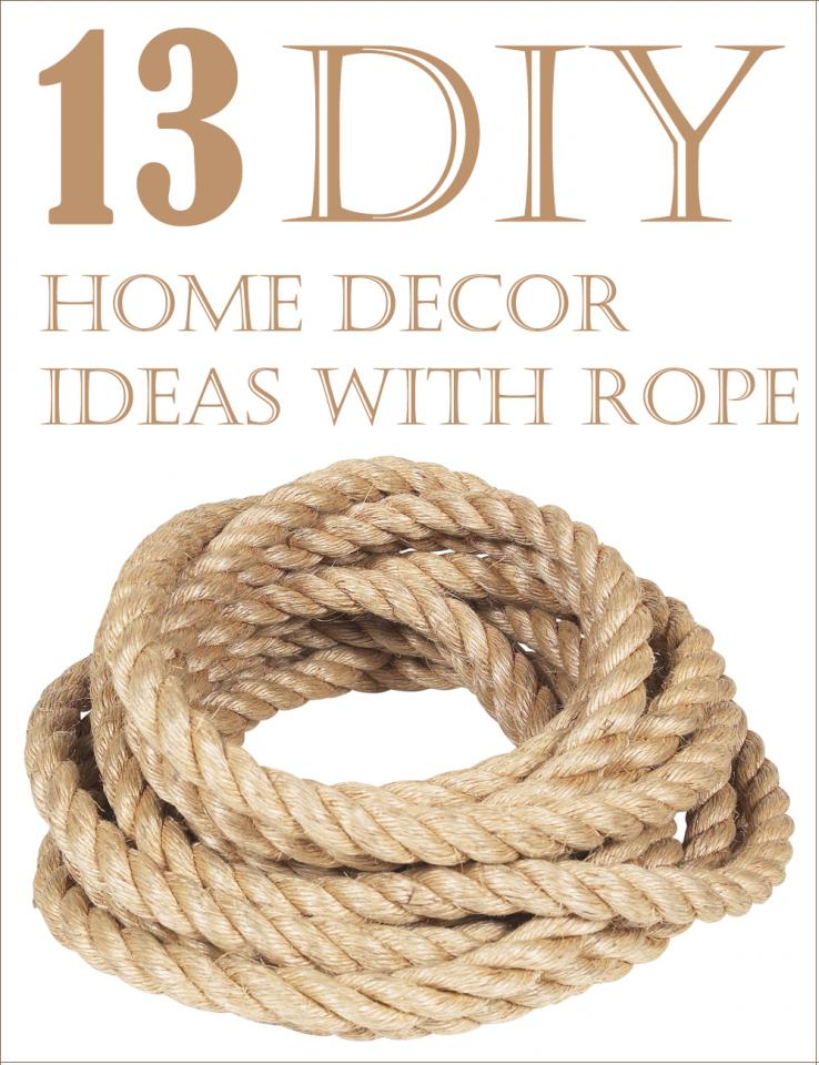 13 diy home decor ideas with rope trusper for Rope designs and more