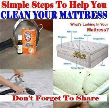 Clean You Mattress: Important!