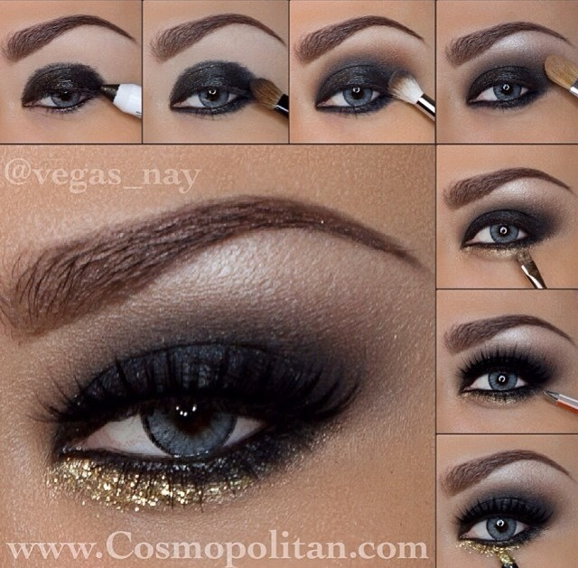 Black And Gold Smokey Eye Trusper