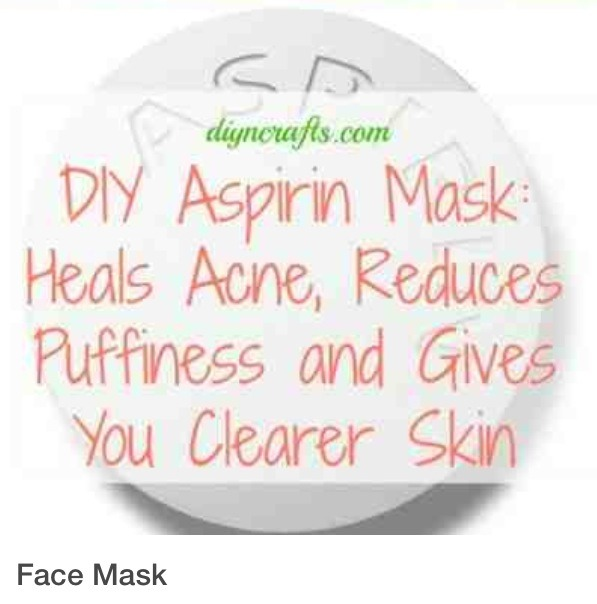 Aspirin mask for facial redness