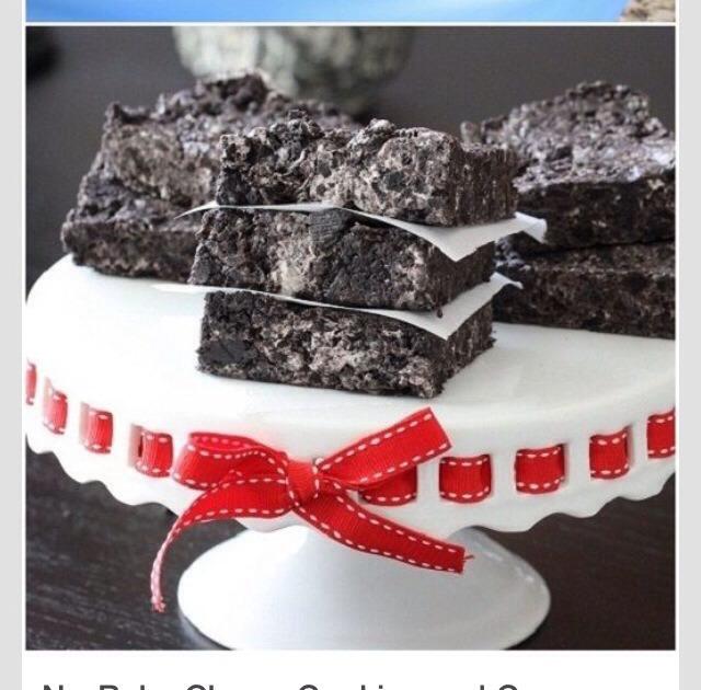 No Bake Chewy Cookies N Cream Bars! Super Easy To Make!   Trusper