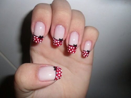 View Images Love minnie mouse here are some nail designs - Christmas Minnie Mouse Nail Designs ~ Minnie Mickey Mouse Nail Art