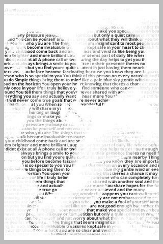 This Website Puts Any Words, Lyrics Or Even Vows Into A Picture! So Beautiful :)