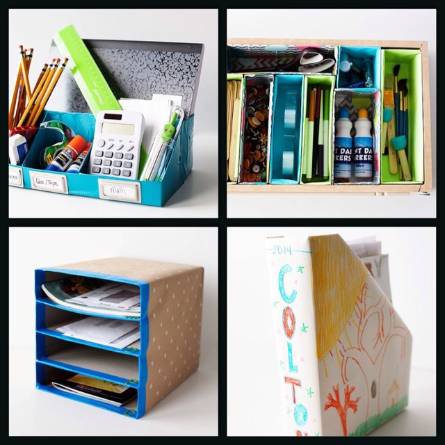 4 Ways To Organise With Recycled Cereal Boxes. #tipit