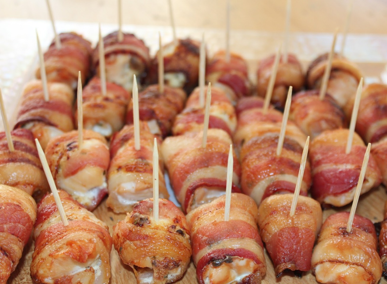 Excellent Appetizer Or Side Dish: Bacon Wrapped Chicken ...