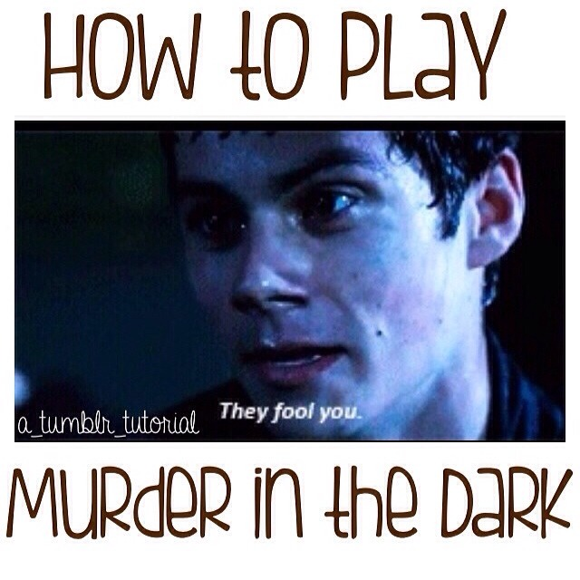 How To Play Murder In The Dark