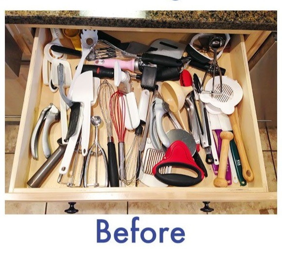 DIY Kitchen Utensil Drawer Organizer!!