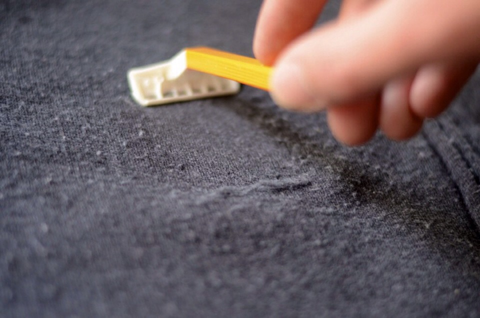Sweater lint on shirt long sweater jacket - How to remove lint ...