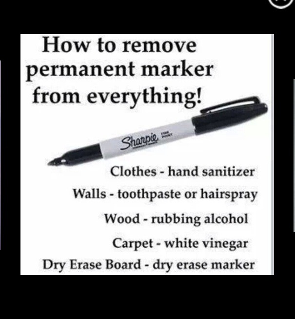 how to get remove permanent marker off everything trusper. Black Bedroom Furniture Sets. Home Design Ideas