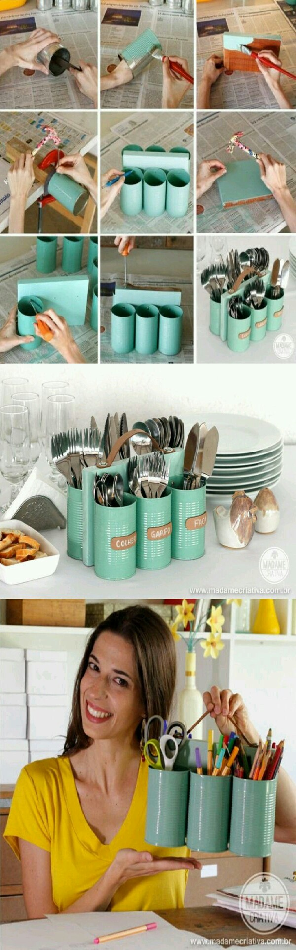 11 Creative ways to transform tin cans. Get creative! !!!!!