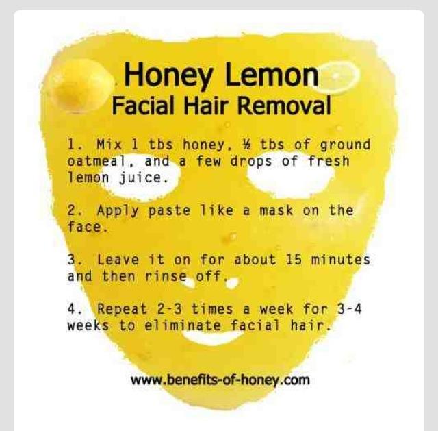 💙💙💙💙 DIY Lemon Honey Facial Hair Remover!!!!!!!!!!(:💙💙💙💙