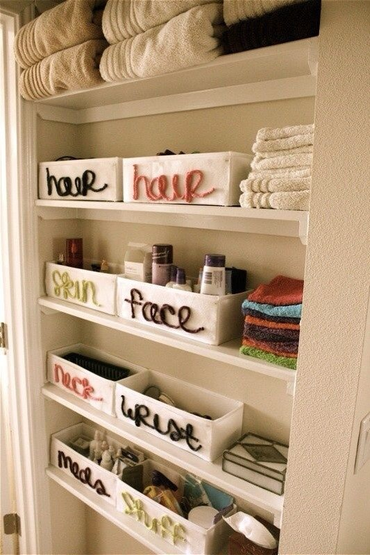 Adorable Way To Organize Your Bathroom Closet!