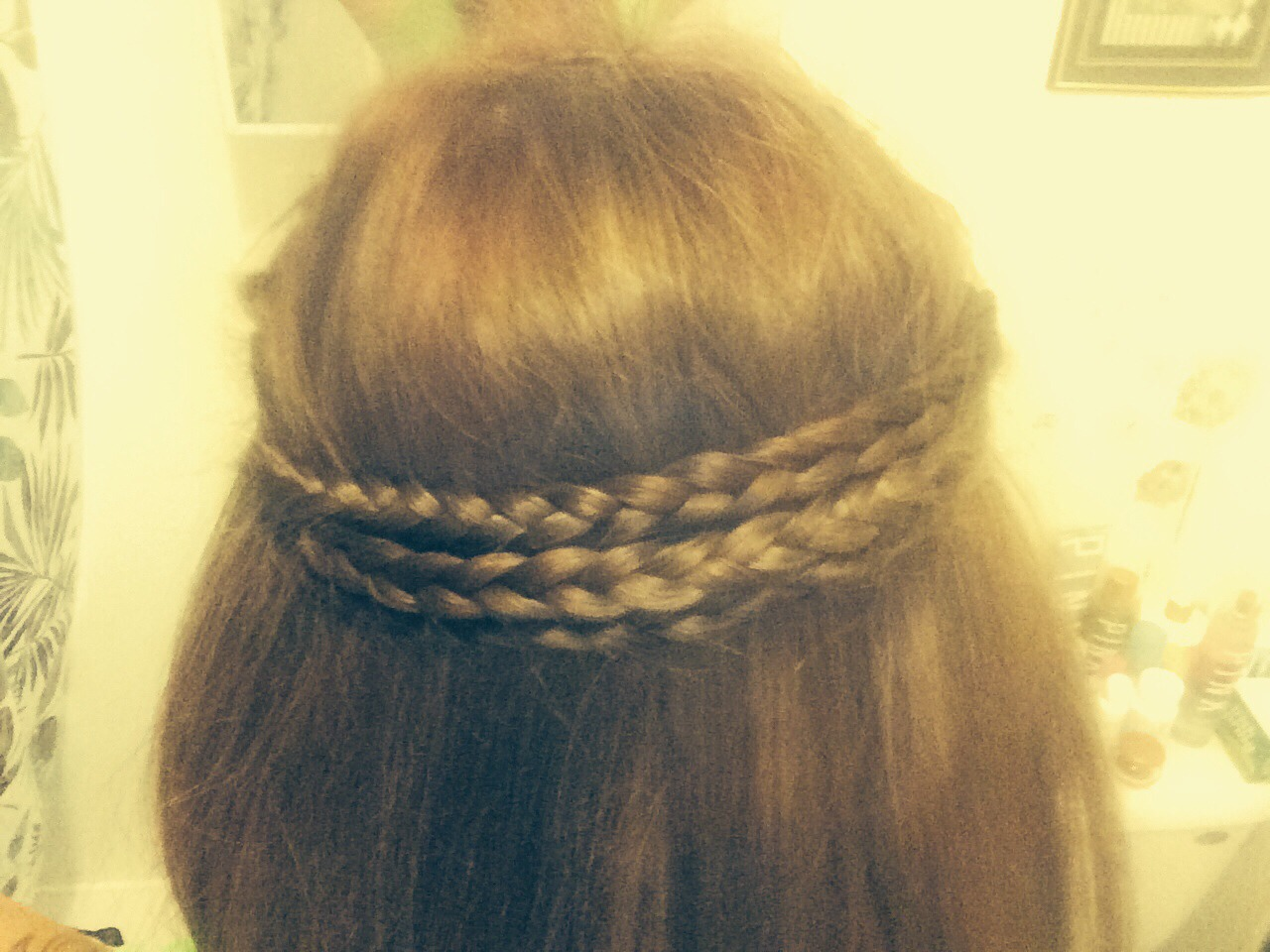 Braid Two Braids On Each Side And Pin Together On Each ...